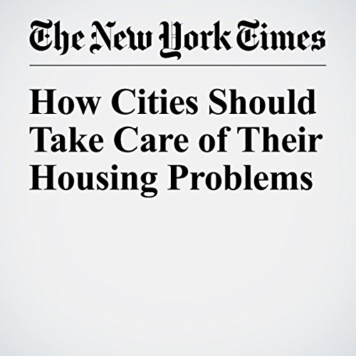 How Cities Should Take Care of Their Housing Problems copertina