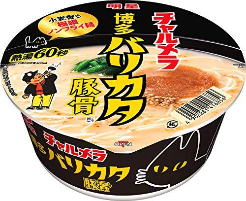 明星 チャルメラどんぶり 博多バリカタ麺豚骨 75g ×12個