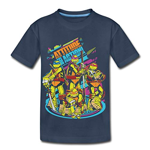 TMNT Turtles Attitude for Action Kinder Premium T-Shirt, 122-128, Navy