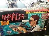 Sega Genesis Menacer Light Gun, Receiver Light Sensor, and 6-Game Cartridge Bundle