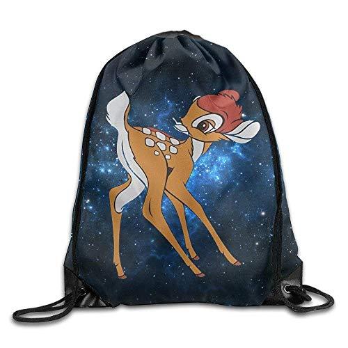CHSUNHEY Bolsos de Lazo,Mochilas,Bambi Design Unisex Gym Eco-Friendly Drawstring Shoulder Bag Backpack Travel Bag Bags Backpack String Bags School Rucksack Gym Handbag