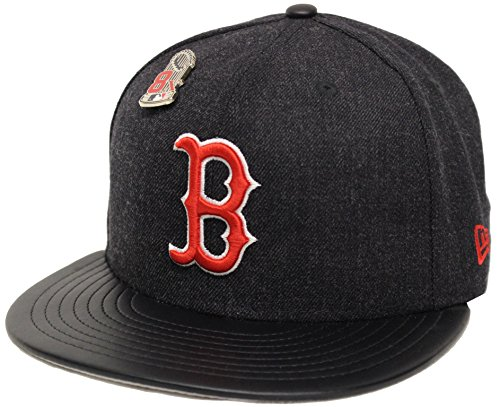 New Era 59Fifty Hat Boston Red Sox Pin 8X MLB Navy Blue Official Team Color Cap (7 5/8)