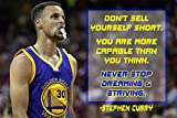 Stephen Curry Poster Quote Cool Golden State Warriors Steph Curry Quotes Posters Basketball Sports Décor Coaching Wall Art Growth Mindset Teacher Educational Teaching Learning Mindsets Quotes P058