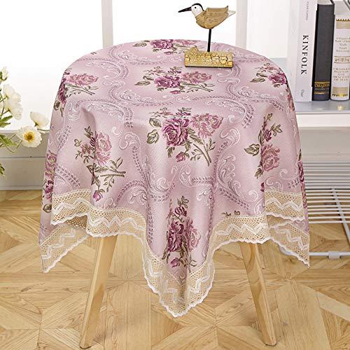 marca blanca Mantel redondo grande de plástico para hotel, mantel redondo para el hogar, impermeable, resistente al aceite, a prueba de lavado, antiquemaduras, gran mesa redonda 140 x 190 cm