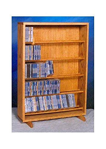 24.25 in. Dowel CD Storage Tower (Honey Oak)