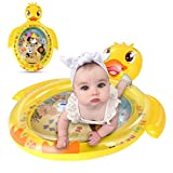 Wallfire Tummy Time Baby Water Mat Yellow Duck Inflatable Play Mat Toy Infant Toddlers Activity Center with Floating Toys for 3 6 9 Months Newborn Boy Girl