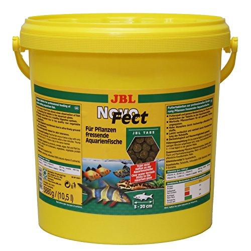 JBL Alleinfutter für pflanzenfressende Aquarienfische, Tabletten 10,5 l, NovoFect, 30261