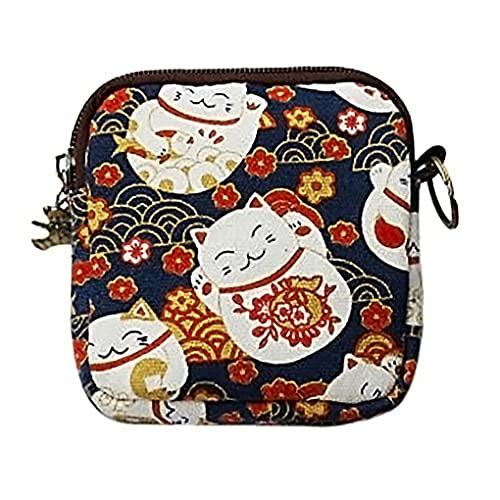 1pc Lucky Cat Portefeuille mignon petit sac à main d'embrayage Porte-Monnaie Porte-carte Fermeture à glissière Portefeuille pour usage domestique quotidien Sac de rangement de stockage pour les