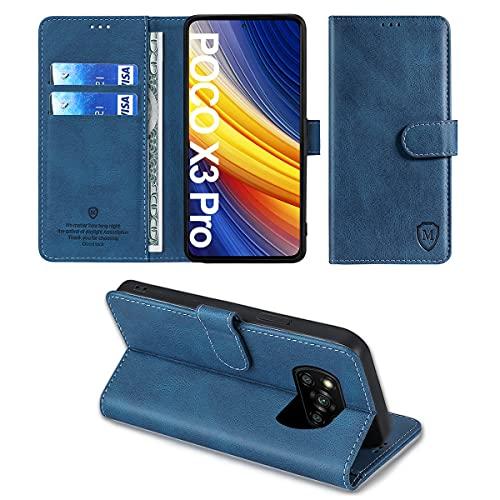 xinyunew Funda Xiaomi Poco X3 NFC/Poco X3 Pro con Tapa,Funda Movil Xiaomi Poco X3 NFC/Poco X3 Pro,Funda Libro Xiaomi Poco X3 NFC/Poco X3 Pro Carcasa Magnético Funda para Xiaomi Poco X3 NFC Azu