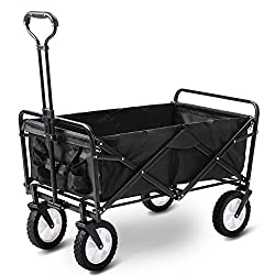 "LARGE CAPACITY – Sets up in Seconds, No Assembly Required! Outside Dimensions Approx: (LxWxH) 90 x 50 x 100CM Inside Dimensions Approx: (LxWxH): 80 x 44 x 25 CM. CONVENIENT COMPACT STORAGE - Wagon folds to only 8"" Thick! Folded size approx : 75 x 50 ..."