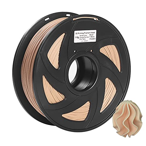 Printer Accessories Pla Filament, 3D Printer Filament Wood + PLA 1.75mm 1kg Spool Dimensional Accuracy +/- 0.02mm