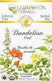 CELEBRATION HERBALS Dandelion Leaf Tea Organic 24 Bag,...