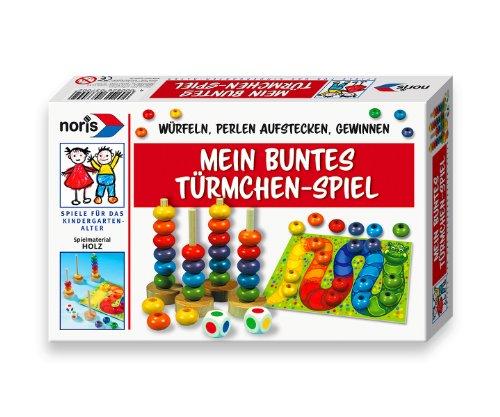 Noris Spiele 606163700 - Mein buntes Türmchenspiel, Kinderspiel