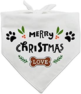 family Kitchen Fun Pet Puppy Merry Christmas Dog Bandana Scarf Decorations Accessories, Pet Scarves for Dog Lovers Owner Gift