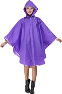 Yxsd Raincoat Women's Waterproof Jacket Raincoat Hooded Poncho Suit Motorcycle Raincoat Set Protective Equipment Work Outdoor Activities (Color : Purple)
