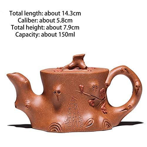 No-branded Teekanne Teekannen-Topf-abschüssige Schlamm-authentischer purpurroter Sand-Topf-berühmte handgemachte Zwergpflaumen-Topf-Kungfu-Blumen-Teekanne GMXCC (Color : Dwarf Plum Pile)