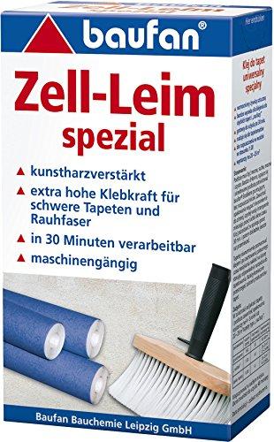 Baufan Zell - Colla speciale per carta da parati in fibra grezza e pesante, 200 g