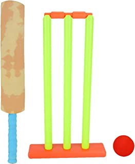Alomejor Cricket Set for Kids Cricket Bat and Ball Beach Wicket Stand with Detachable Stumps Bat Balls and Batting Board