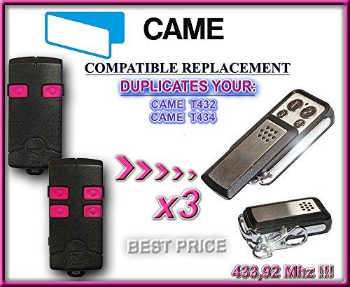 3 X CAME T432, CAME T434 kompatibel handsender, klone fernbedienungen, 4-kanal 433,92Mhz fixed code. Top Qualität Kopiergerät!!! 3 Stücke für den besten Preis!!!