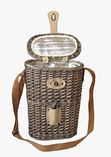 Red Hamper 2 Bottle Insulated Willow Porte-Bouteille