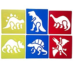 3. Mike Home Assorted Dinosaur Stencils (6pcs)