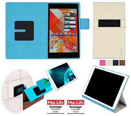 Hülle für Medion Lifetab S8311 Tasche Cover Hülle Bumper | in Beige | Testsieger