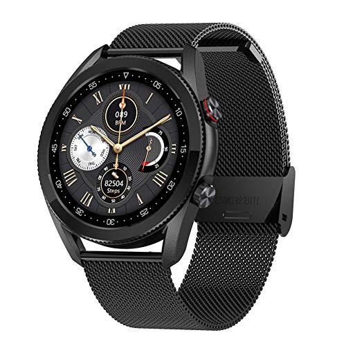 Mujeres s y hombres s relojes inteligentes 1 28 pulgadas pantalla táctil circular completa IP68 impermeable Bluetooth llamada (para IOS y Android)-G-Ç
