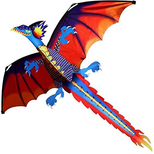 YHWW Drachen,Klassischer Drachen Drachen 140cm x 120cm Single Line mit Schwanz mit Griff und Schnur Gute Fliegende Drachen aus Hengda, China
