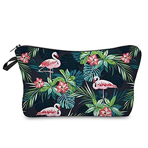 Longsing Trousse de Toilette de Voyage Imperméable Légère et Portable pour Organisateur de Maquillage Trousse de Toilette de Stockage (Flamingo)