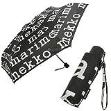 マリメッコ 傘 マリロゴ 折りたたみ傘 ブラック レディース MARIMEKKO 048859 910 並行輸入品