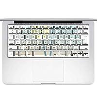 igsticker MacBook Air 13inch 2010 ~ 2017 専用 キーボード用スキンシール キートップ ステッカー A1466 A1369 Apple マックブック エア ノートパソコン アクセサリー 保護 015639 木 ヤシの木 自然