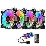 SOLUSTRE 5 Pz 12 Cm RGB Ventola di Raffreddamento del Computer CPU Raffreddatore Daria CPU Refrigeratore Dacqua Desktop Computer Case Cooler