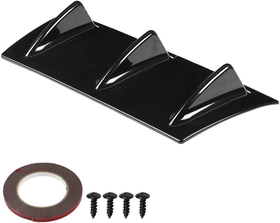 4 Pz Paraurti Posteriore per Auto Universale Diffusore a Labbro Spoiler Alettone Canards Splitter Diffusore a Pinna di Squalo Protezione Anti-Urto Fibra di Carbonio