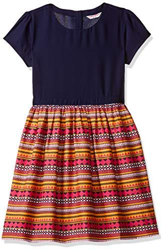 Amazon Brand – Jam & Honey Girl's Cotton Empire Knee-Length Dress