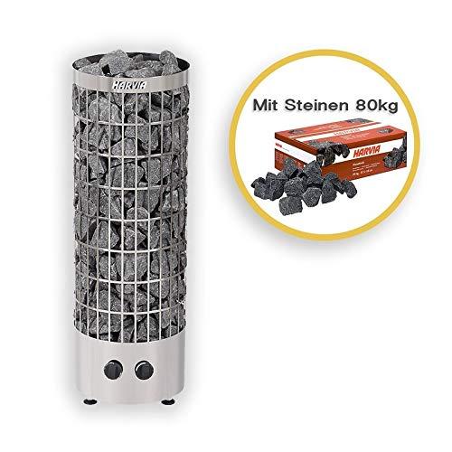 Harvia Saunaöfen Cilindro PC90 9,0 Kw Mit Steuerung inkl.80kg Saunasteine