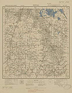 Survey of India 79 B/7 West Bengal S Kolkata Calcutta Baruipur Sonarpur - 1923 - Old map - Antique map - Vintage map - Printed maps of India