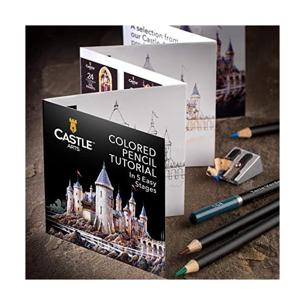 Castle Art Supplies 120 – Juego de lápices de colores, color 120 colores