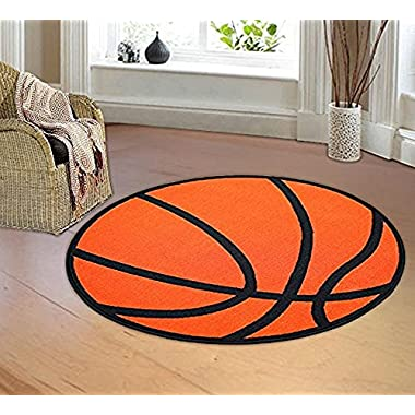 Furnishmyplace Basketball round Kids Rug Size 3'3  round