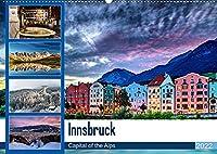 Innsbruck - Capital of the AlpsAT-Version (Wandkalender 2022 DIN A2 quer): Innsbruck - Hauptstadt der Alpen (Monatskalender, 14 Seiten )