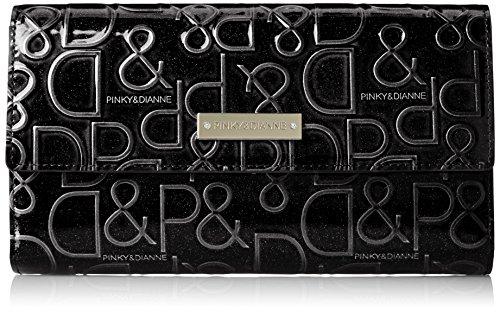 [ピンキーアンドダイアン] 財布 【ドルチェ】 エナメル ロゴ型押し ブラック