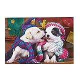 Entertainment Puzzle 1000Pcs,Animales Adorables: Rompecabezas Personalizado De Mejores Amigos, Hermosos Rompecabezas Impresos para Colega