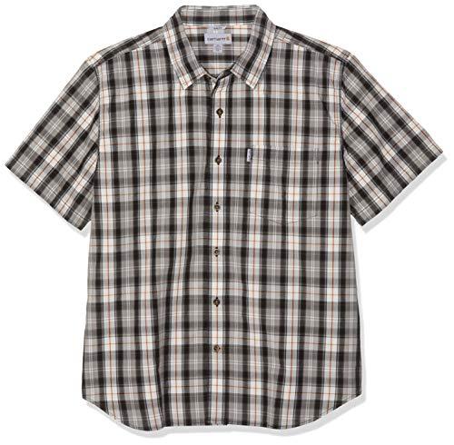 Carhartt .102100.001.S007 Slim Fit Plaid Shirt, met korte mouwen, kleur: zwart, maat: XL