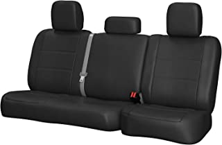 Rear SEAT: ShearComfort Custom Sof-Touch Imitation Leather Seat Covers for Chevy Silverado (2007-2013) in Solid Charcoal for Solid Bench w/Adjustable Headrests (Extended Cab)