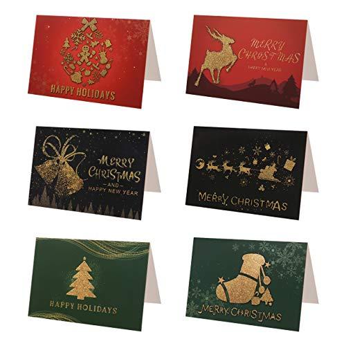 Kesote クリスマスカード メッセージカード グリーティングカード お祝いカード 24枚入り 24枚封筒/封筒テ...