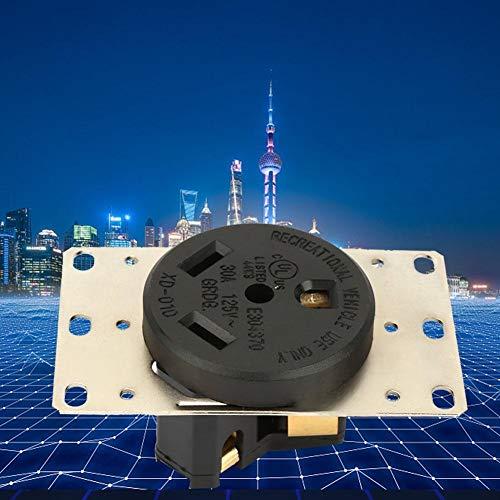 Wolfgo Industriële energiesokkel 30 A AC125 V industriële USA-stopcontact 3 gaten RV-stekker