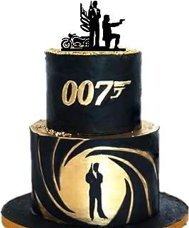 007 cake topper