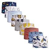 Taxzode Children Baby Soft Cotton Kids Underwear Cartoon Boys Boxer Briefs Short, 9 Pcs-assorted-b, 6-7 Years