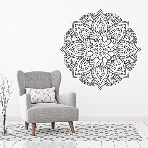 Hermoso Mandala único Bohemio Boho Pegatinas de pared Arte Decoración para el hogar para sala de estar Dormitorio Calcomanías Artículos para el hogar Papel tapiz A19 57x57cm