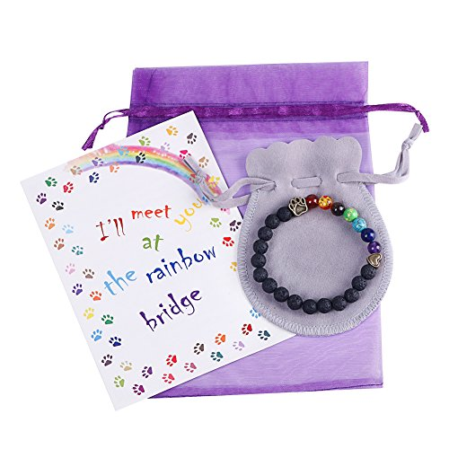 EASTDAMO Pet Memorial Bracelet Gifts for Rainbow Bridge