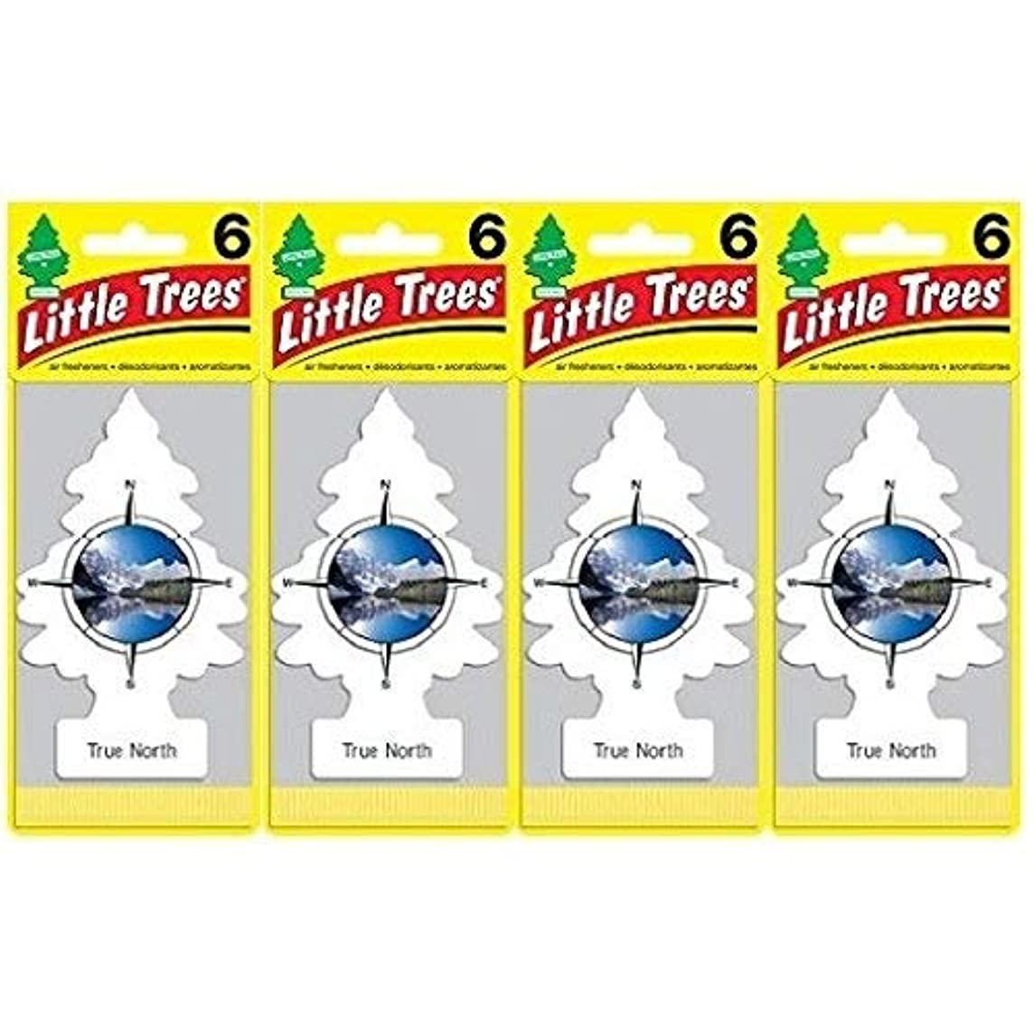 Little Trees Air Fresheners, True North (Pack of 24)